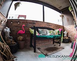 78 metrowe Mieszkanie Anny i Piotra w podpoznańskiej Wrześni - Średni taras z tyłu domu - zdjęcie od mieszkanicznik od podszewki