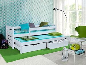 Mały niebieski pokój dziecka dla chłopca dla dziewczynki dla malucha dla nastolatka, styl nowoczesny - zdjęcie od Papagalo