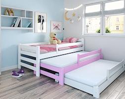 Mały biały niebieski pokój dziecka dla dziewczynki dla rodzeństwa dla malucha, styl skandynawski - zdjęcie od Papagalo