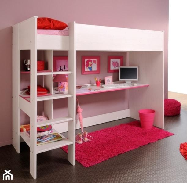 Mały różowy pokój dziecka dla dziewczynki dla malucha dla nastolatka, styl nowoczesny - zdjęcie od Papagalo