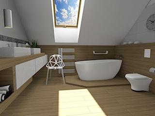 Klimatyczna łazienka na poddaszu