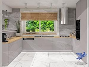 kuchnia w szarościach - zdjęcie od Lazuryt Studio Architektura Wnętrz