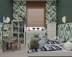 Projekt koncepcyjny pokoju dziecięcego w kilku wersjach - Średni zielony pokój dziecka dla chłopca dla dziewczynki dla ucznia dla malucha, styl skandynawski - zdjęcie od Studio 36m2