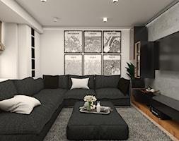 salon z dużym narożnikiem - zdjęcie od Studio 36m2