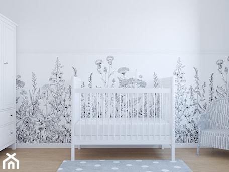 Segment w Ursusie - Duży biały pokój dziecka dla chłopca dla dziewczynki dla niemowlaka dla malucha, styl skandynawski - zdjęcie od Studio 36m2