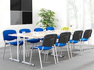 Stoły konferencyjne - Duże białe biuro pracownia, styl tradycyjny - zdjęcie od MebleDoBiura.pl