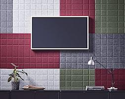 Małe szare zielone czerwone białe biuro, styl nowoczesny - zdjęcie od MebleDoBiura.pl
