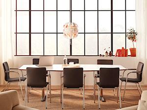 Stoły konferencyjne - Średnie białe biuro domowe w pokoju, styl tradycyjny - zdjęcie od MebleDoBiura.pl