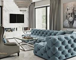 Rezydencja pod Warszawą - salon w stylu New York Glamour. - zdjęcie od JUSTYNA TATYS LUXURY INTERIORS - Homebook