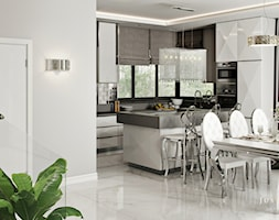Rezydencja pod Warszawą - kuchnia i jadalnia w stylu New York Glamour - zdjęcie od JUSTYNA TATYS LUXURY INTERIORS - Homebook