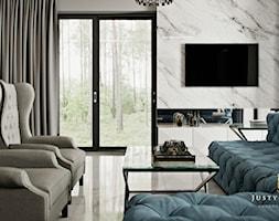 Rezydencja pod Warszawą - salon w stylu New York Glamour - zdjęcie od JUSTYNA TATYS LUXURY INTERIORS - Homebook
