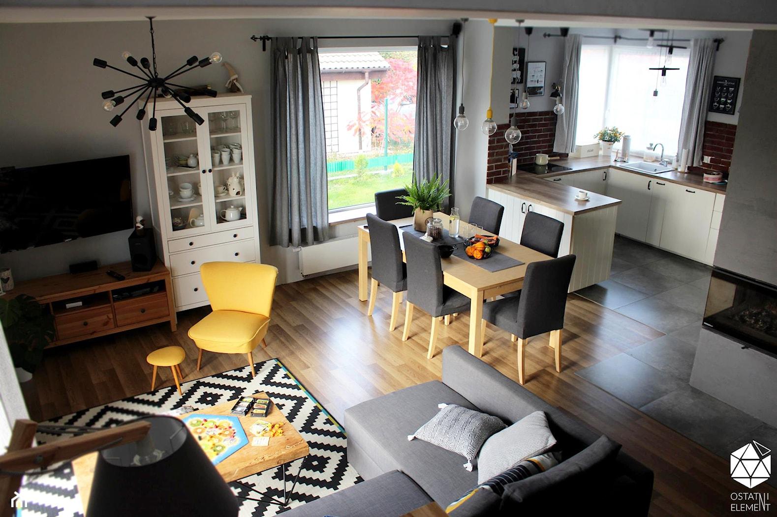 Dom w Gajkowie - jadalnia i salon - zdjęcie od Architekt Wnętrz - Kalina Droździok - Homebook