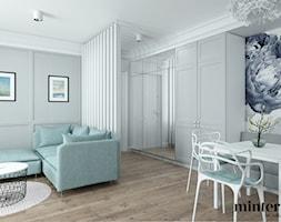 BUJANIE W OBŁOKACH - Średnia otwarta biała jadalnia w salonie, styl eklektyczny - zdjęcie od minteriors Monika Koryczan Architektura Wnętrz - Homebook