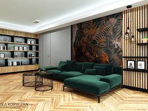 Mieszkanie w Krakowie, salon z kuchnią. - zdjęcie od minteriors Monika Koryczan Architektura Wnętrz