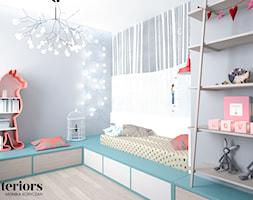 POKÓJ DZIECKA - Mały szary pokój dziecka dla chłopca dla dziewczynki dla nastolatka, styl eklektyczny - zdjęcie od minteriors Monika Koryczan Architektura Wnętrz