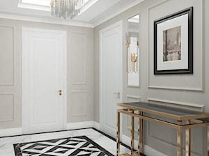 ELEGANCKI APARTAMENT W WARSZAWIE - Mała szara sypialnia, styl glamour - zdjęcie od minteriors Monika Koryczan Architektura Wnętrz