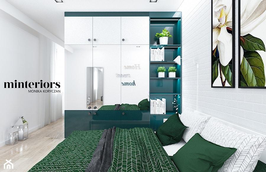Zielono Mi średnia Biała Sypialnia Małżeńska Styl