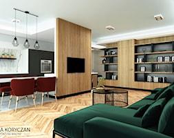 Mieszkanie+w+Krakowie%2C+salon+z+kuchni%C4%85.+-+zdj%C4%99cie+od+minteriors+Monika+Koryczan+Architektura+Wn%C4%99trz