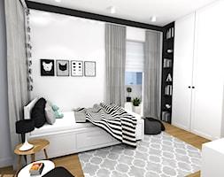 Mały szary pokój dziecka dla chłopca dla dziewczynki dla nastolatka, styl nowoczesny - zdjęcie od New Age Design SC