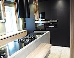 Kuchnia Nowoczesna Czarny Mat Drewno Zdjęcie Od Elit