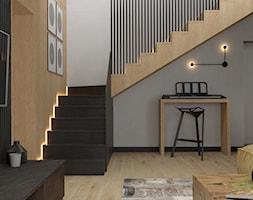 Dom w Siedlcach - Mały szary salon, styl nowoczesny - zdjęcie od SSF_Interiors