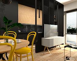 Salon z aneksem kuchennym - zdjęcie od Moczulska Wnetrza i Ogrody