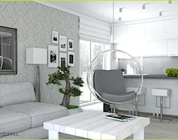 Jasny, nowoczesny salon - zdjęcie od wnetrzewdomu