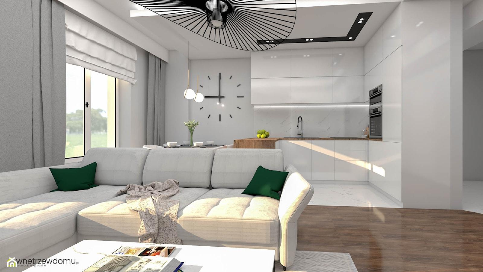Salon z aneksem kuchennym - zdjęcie od wnetrzewdomu - Homebook