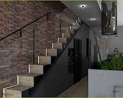 Nowoczesny salon w ciemnych kolorach - zdjęcie od wnetrzewdomu