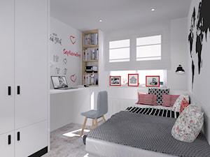 Pokój dziecka - Mały biały pokój dziecka dla chłopca dla dziewczynki dla ucznia dla nastolatka, styl skandynawski - zdjęcie od architekci tu