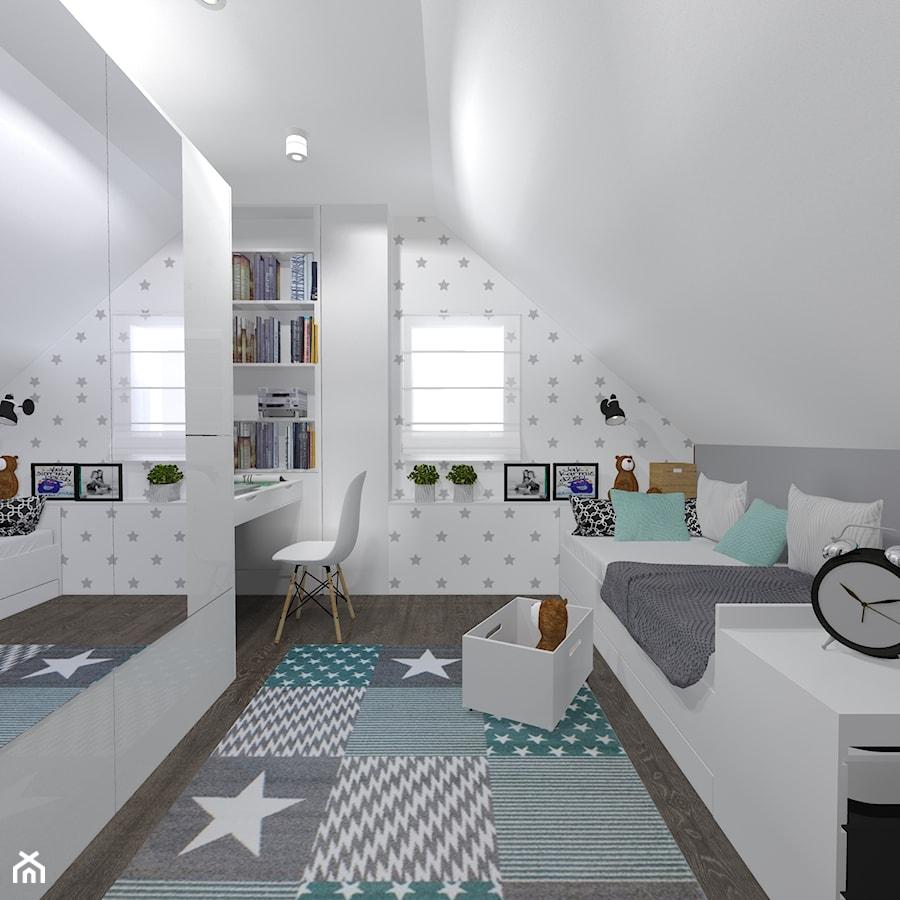 Projekt pokoju dziewczynki - Pokój dziecka, styl skandynawski - zdjęcie od architekci tu