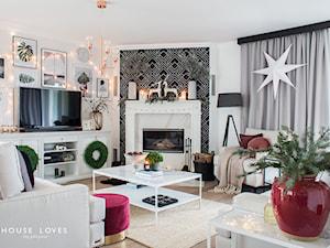 Metamorfoza salonu House Loves dla Miloo Home - Średni szary salon - zdjęcie od miloo-home