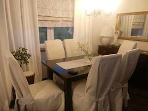 Moja nowa kuchnia - Średnia zamknięta beżowa jadalnia jako osobne pomieszczenie, styl kolonialny - zdjęcie od ewahabykk2