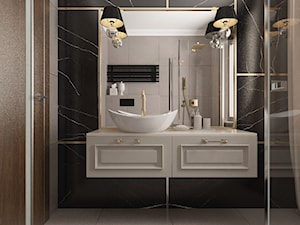 Projekt koncepcyjny dwóch łazienek