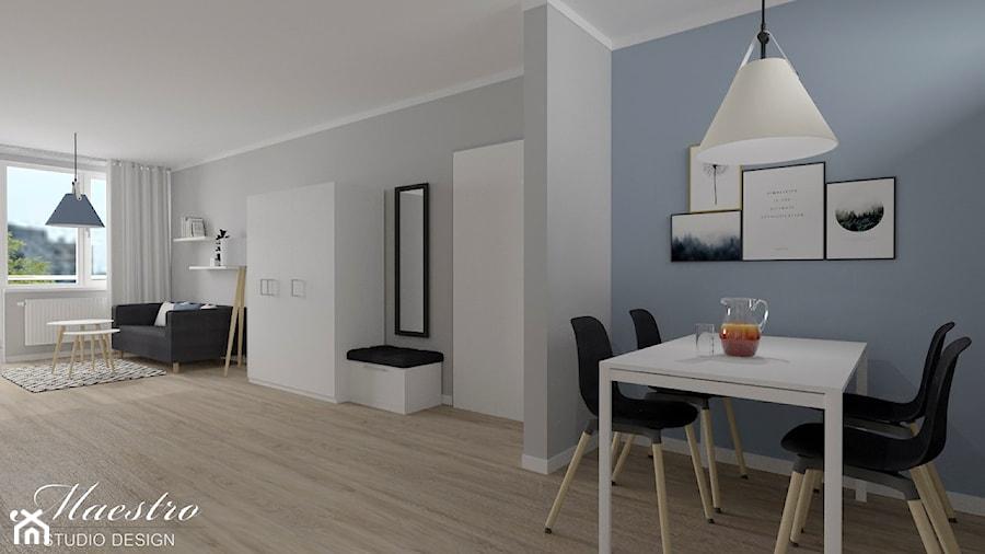 Aranżacje wnętrz - Jadalnia: Część dzienna mieszkania w stylu skandynawskim - Maestro Studio Design. Przeglądaj, dodawaj i zapisuj najlepsze zdjęcia, pomysły i inspiracje designerskie. W bazie mamy już prawie milion fotografii!