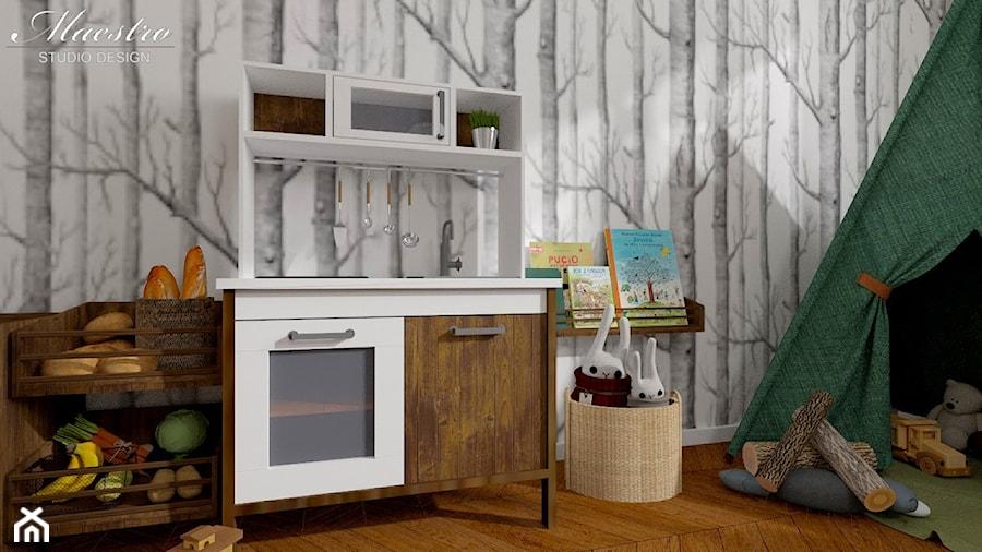 Pokój dziecięcy - Mały biały szary pokój dziecka dla chłopca dla dziewczynki dla malucha, styl vintage - zdjęcie od Maestro Studio Design