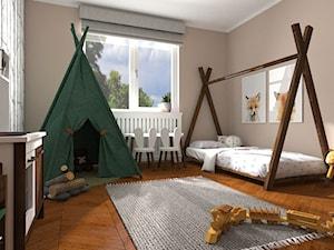 Pokój dziecięcy - Średni brązowy pokój dziecka dla chłopca dla dziewczynki dla malucha, styl skandynawski - zdjęcie od Maestro Studio Design