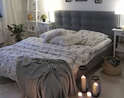 MÓJ OSOBISTY RAJ NA ZIEMI - Średnia biała sypialnia małżeńska, styl skandynawski - zdjęcie od MójOsobistyRajNaZiemi - Homebook