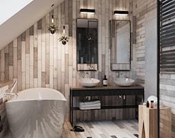 ŁAZIENKA - Średnia łazienka w bloku w domu jednorodzinnym z oknem, styl minimalistyczny - zdjęcie od TOKO_ARCHITEKTURA - Homebook