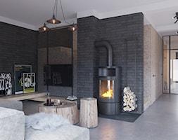 SALON - Średni czarny salon, styl minimalistyczny - zdjęcie od TOKO_ARCHITEKTURA