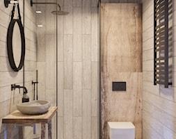 ŁAZIENKA - Mała szara łazienka w bloku w domu jednorodzinnym bez okna - zdjęcie od TOKO_ARCHITEKTURA - Homebook