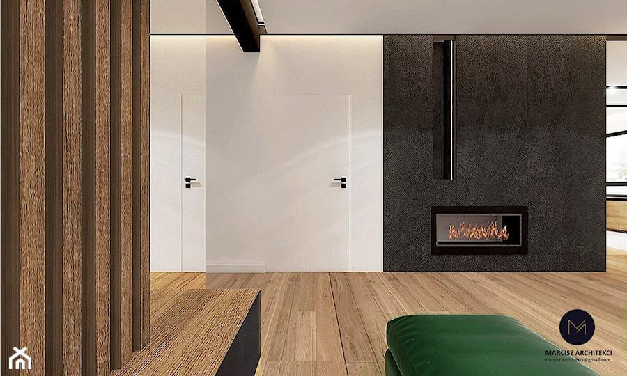 Projekt domu 230 m2/ k. Limanowej - Salon, styl nowoczesny - zdjęcie od MARCISZ ARCHITEKCI