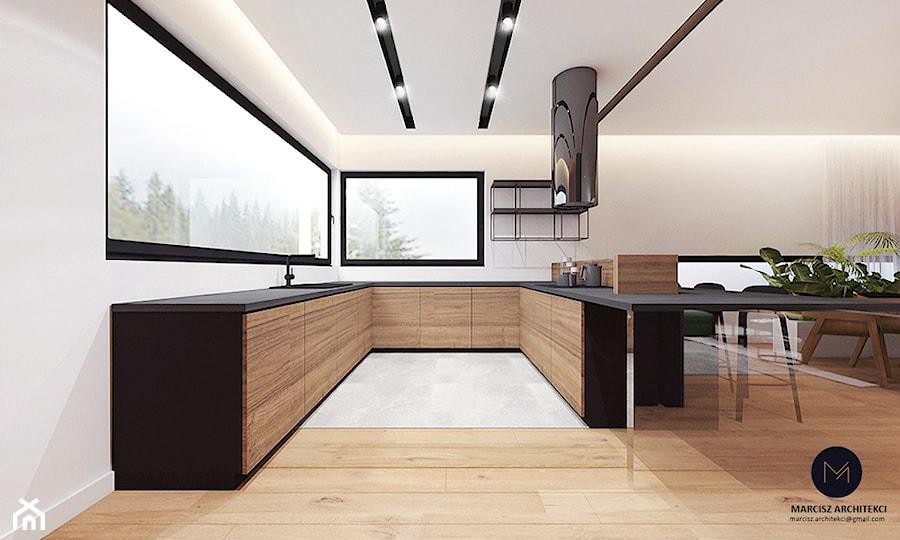 Projekt domu 230 m2/ k. Limanowej - Kuchnia, styl nowoczesny - zdjęcie od MARCISZ ARCHITEKCI