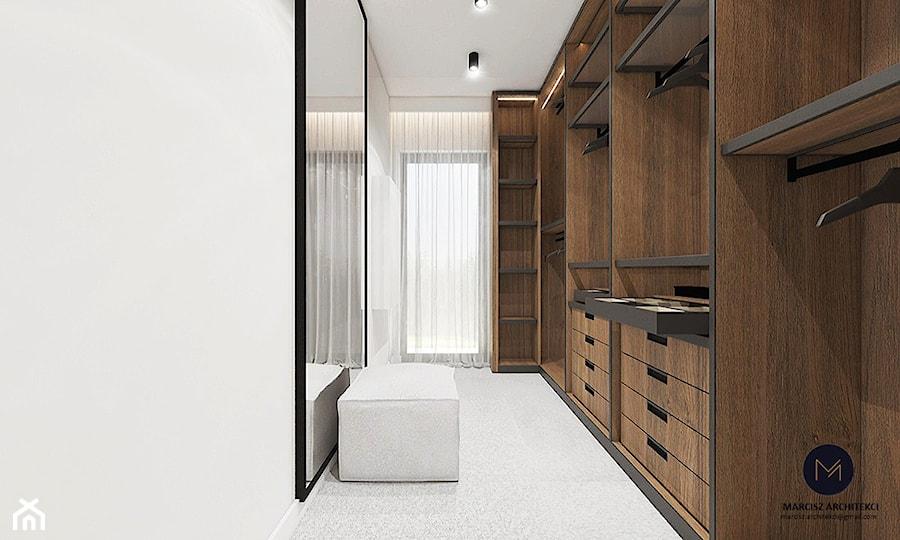 Projekt domu 230 m2/ k. Limanowej - Garderoba, styl nowoczesny - zdjęcie od MARCISZ ARCHITEKCI