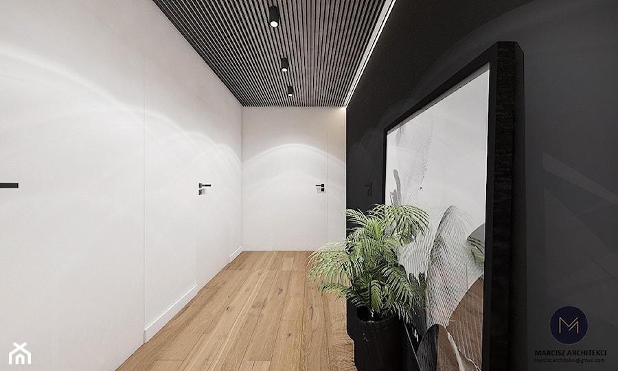 Projekt - Kino domowe w domu jednorodzinnym / k. Limanowej - Hol / przedpokój, styl nowoczesny - zdjęcie od MARCISZ ARCHITEKCI