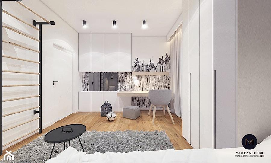 Projekt domu 230 m2/ k. Limanowej - Pokój dziecka, styl minimalistyczny - zdjęcie od MARCISZ ARCHITEKCI