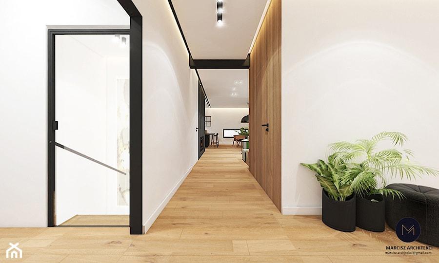 Projekt domu 230 m2/ k. Limanowej - Hol / przedpokój, styl nowoczesny - zdjęcie od MARCISZ ARCHITEKCI