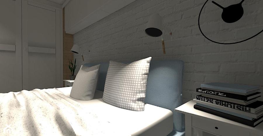 Biała Cegła W Sypialni Zdjęcie Od Projektomania Pracownia