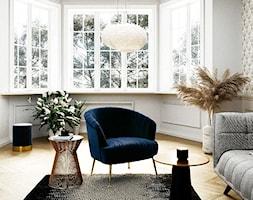 Apartament prosto z Paryża - Średni biały beżowy salon, styl eklektyczny - zdjęcie od THE HOMECEPT - Homebook