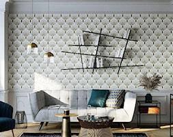 Apartament prosto z Paryża - Mały szary biały beżowy salon, styl eklektyczny - zdjęcie od THE HOMECEPT - Homebook